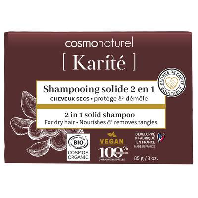 SHAMPOOING 2 EN 1 SOLIDE CHEVEUX SECS - COSMO NATUREL - Cheveux