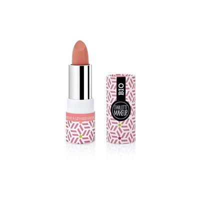 ROUGE à LèVRES SATINE Rose CORAIL - Charlotte Make Up - Maquillage