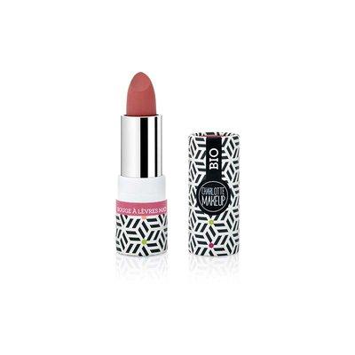 rouge à lèvres mat rouge rosé - Charlotte Make Up - Maquillage