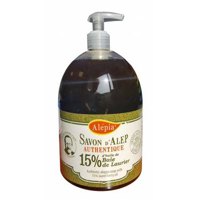 AUTHENTIC LIQUID ALEPPO SOAP 15% - ALEPIA - Hygiene