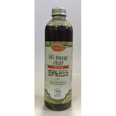 Gel Douche Alep  Premium 15 % Laurier - ALEPIA - Hygiène - Cheveux - Corps