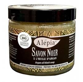 BLACK SOAP WITH ARGAN OIL - ALEPIA - Body