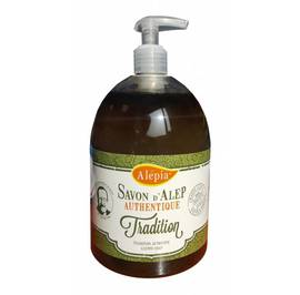 AUTHENTIC LIQUID ALEPPO SOAP WITH 1% lAUREL OIL - ALEPIA - Hygiene