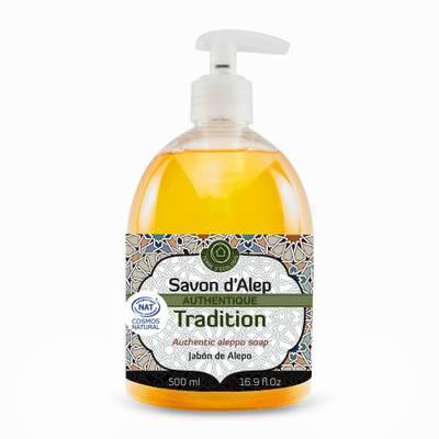 SAVON D'ALEP LIQUIDE AUTHENTIQUE TRADITION - TERRE D'ECOLOGIS - Hygiène