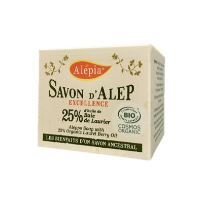Savon Alep Excellence Tradition 25% - ALEPIA - Visage - Hygiène - Corps