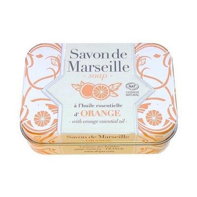 Savon de Marseille Orange Collection métal - ALEPIA - Visage - Hygiène - Corps