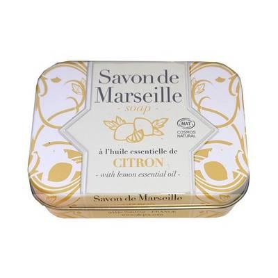 Savon de Marseille citron Collection métal - ALEPIA - Visage