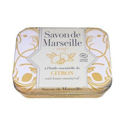 Savon de Marseille citron Collection métal - ALEPIA - Visage - Hygiène - Corps