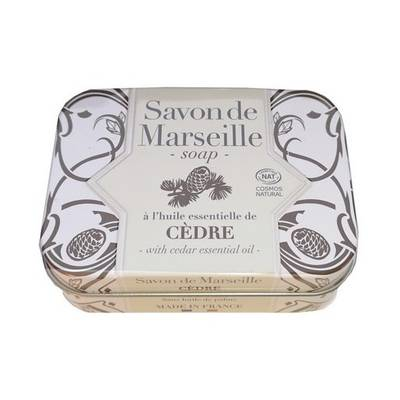 Savon de Marseille cèdre Collection métal - ALEPIA - Visage