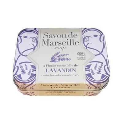 Savon de Marseille lavandin Collection métal - ALEPIA - Visage - Hygiène - Corps