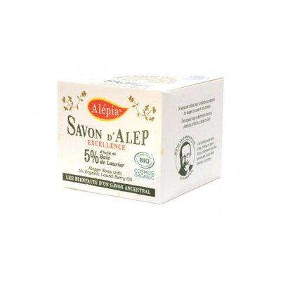 Savon Alep Excellence 5% laurier - ALEPIA - Visage - Hygiène - Corps