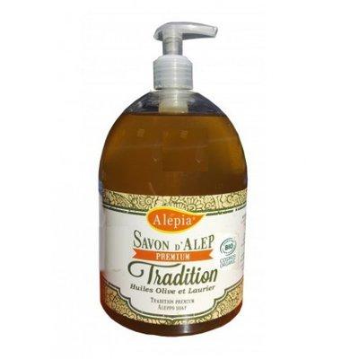 Savon Alep liquide Premium Tradition - ALEPIA - Visage - Hygiène - Corps