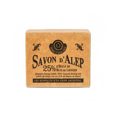 Savon Alep Authentique 25% - TERRE D'ECOLOGIS - Visage - Hygiène - Corps