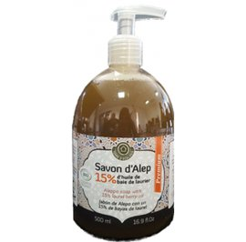 15% Laurel Liquid Premium Aleppo Soap - TERRE D'ECOLOGIS - Face - Hygiene - Body