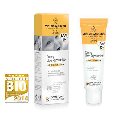 Crème ultra-réparatrice bébé 20% miel de manuka IAA15+ - Comptoirs et Compagnies - Bébé / Enfants