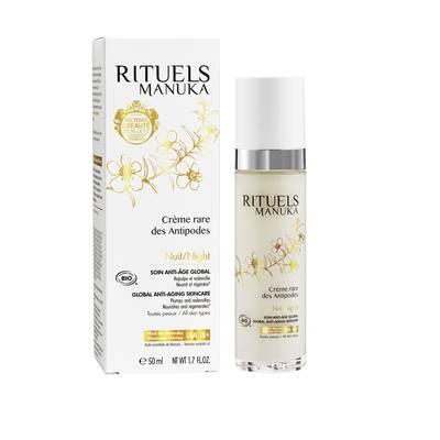 Crème rare des Antipodes Nuit - RITUELS MANUKA - Comptoirs et Compagnies - Visage
