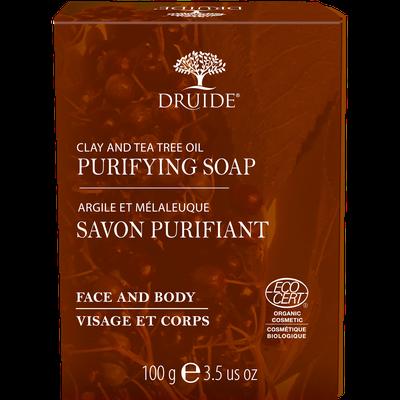 Savon Purifiant pour visage et corps (Argile et Mélaleuque) - DRUIDE - Visage - Hygiène - Corps