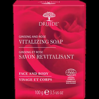 Savon Revitalisant pour visage et corps (Ginseng et Rose) - DRUIDE - Visage - Hygiène