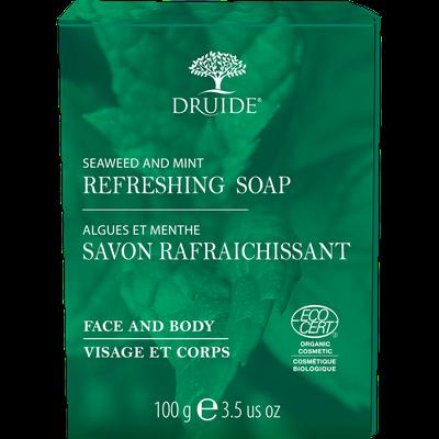 Savon Rafraichissant pour visage et corps (Algues et menthe) - DRUIDE - Visage - Hygiène - Corps