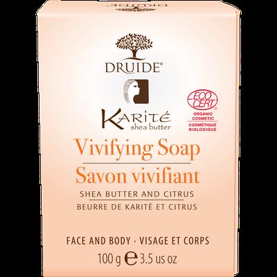 Savon Vivifiant pour visage et corps (Karité et citrus) - DRUIDE - Visage - Hygiène - Corps