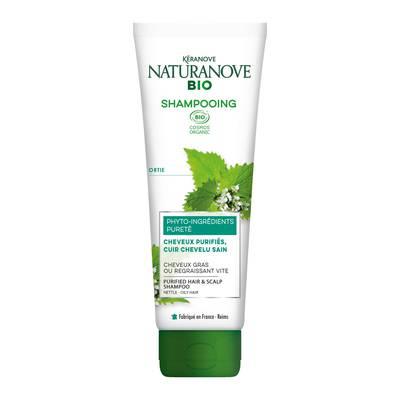Shampooing Pureté Ortie Cheveux gras ou regraissant vite - KÉRANOVE NATURANOVE BIO - Cheveux