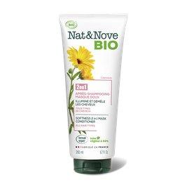Après-shampooing - Masque 2 en 1 Doux - Nat&Nove BIO - Cheveux