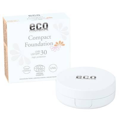 Fond de teint compact indice 30 - 025 beige moyen - Eco cosmetics - Visage