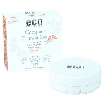 Fond de teint compact indice 30 - 030 beige - Eco cosmetics - Visage