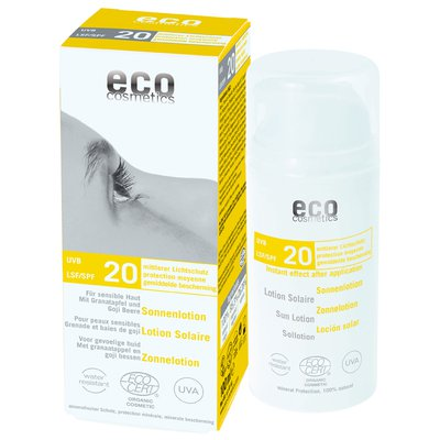 Lotion Solaire indice 20 - Eco cosmetics - Solaires