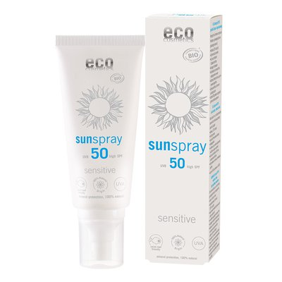 Spray solaire indice 50 sensitive - Eco cosmetics - Solaires