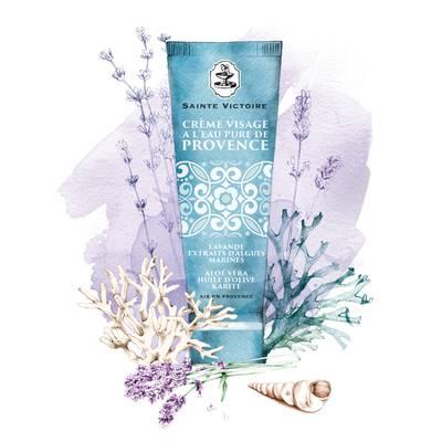 Crème Visage à l'eau pure de Provence - Sainte Victoire - Visage