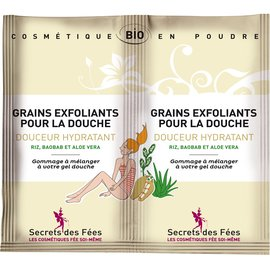 Exfoliating grains for showering Smoothness, moisturizing - Secrets des Fées - Body