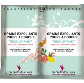 Exfoliating grains for showering Tonic, refreshing - Secrets des Fées - Body