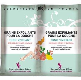 Exfoliating grains for showering Tonic, refreshing - Secrets des Fées - Body