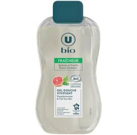 Gel douche vivifiant pamplemousse thé vert U bio 250ml - U BIO - Hygiène
