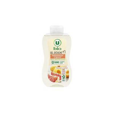 Gel douche pamplemousse & abricot - U BIO - Hygiène