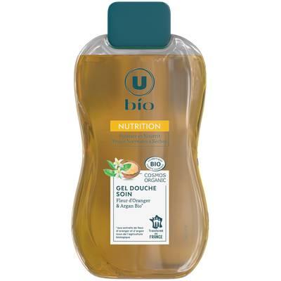 Gel douche soin Fleur d' Oranger & Argan Bio Nutrition Hydrate et Nourrit Peaux Normales à Sèches - U BIO - Hygiène