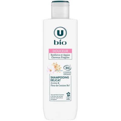 Shampooing douceur délicat aux extraits d'avoine et de fleur de cerisier U BIO - U BIO - Cheveux