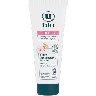 Après-shampooing douceur délicat aux extraits d'avoine et fleur de cerisier U BIO - U BIO - Cheveux