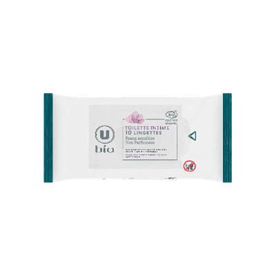 Lingettes toilette intime pocket U BIO x10 - U BIO - Hygiène