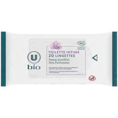 Lingettes toilette intime U BIO - U BIO - Hygiène