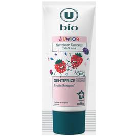 Dentifrice junior fruits rouges - U BIO - Hygiène