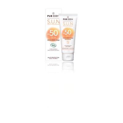Crème solaire visage SPF50 - PUR EDEN - Visage - Solaires