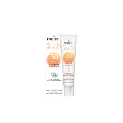 Spray solaire visage et corps SPF30 - PUR EDEN - Visage - Solaires - Corps