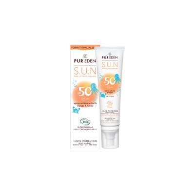 Sun Spray face and body for kids SPF50 - PUR EDEN - Face - Body - Sun - Baby / Children
