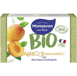 image produit Mon savon hydratant abricot pointe de basilic