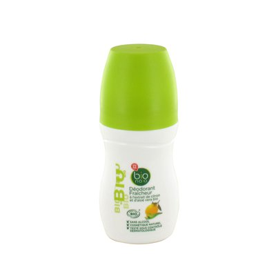 Déodorant bille fraicheur à l'extrait de citron et d'aloé vera - Bionaia - Hygiène
