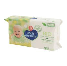 Baby wipes - Mots d'Enfants bio - Face - Body