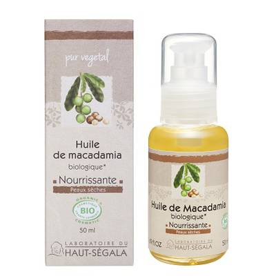 Organic* macadamia oil - Laboratoire du haut segala - Massage and relaxation