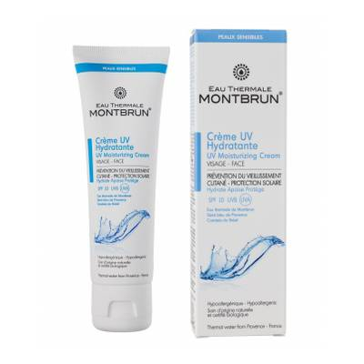 Crème UV hydratante visage SPF 10 - EAU THERMALE MONTBRUN - Visage - Solaires